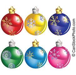 Christmas Balls vector set