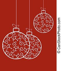 Christmas balls with a pattern