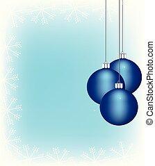 Christmas balls with a snowflake frame
