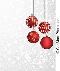 Christmas balls with a snowflake