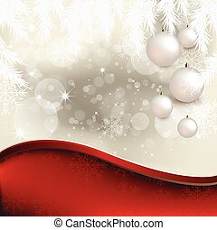 Christmas Balls with Abstract Background