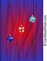Christmas balls with background