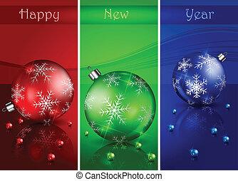 Christmas balls with beads & text