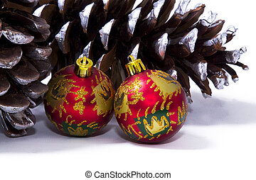 Christmas balls with cones