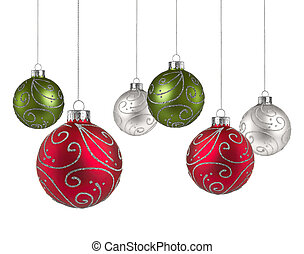 Christmas balls with copy space
