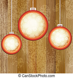 Christmas balls with place for copyspace. + EPS8