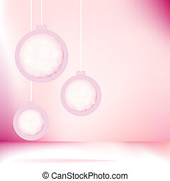 Christmas balls with snowflakes. + EPS8