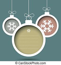 Christmas Balls with snowflakes