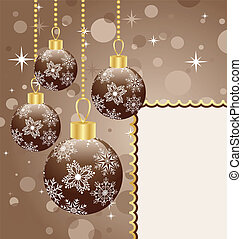 Christmas balls with space for text