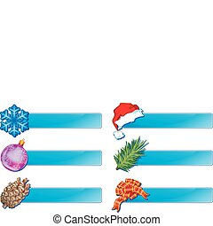 Christmas banner - Christmas horizontal blue banners for ...