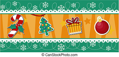 christmas banner decoration vector