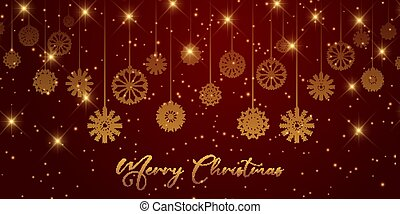 christmas banner design with snowflakes 0112
