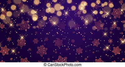 christmas banner design with stars and bokeh lights 0212
