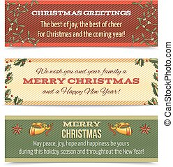 Christmas banner horizontal - Christmas new year holiday ...