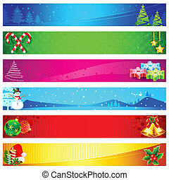 Christmas Banner - illustration of colorful christmas banner...