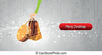 Christmas Banner Internet Shopping Illustration | EPS10 Vector Background