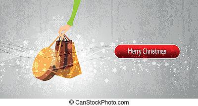 Christmas Banner Internet Shopping Illustration | EPS10 Vector Background