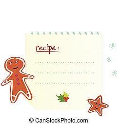 Christmas banner / recipe