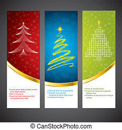 Christmas banner set - Christmas time banner set in various...