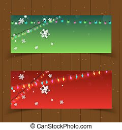 Christmas Banner Set of two Background Vector