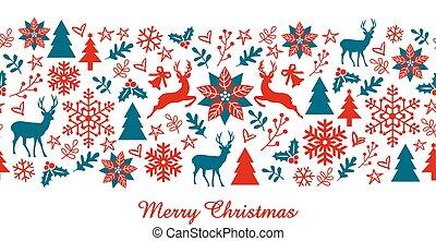 Christmas banner, vector