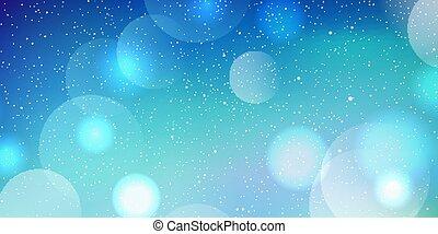 Christmas banner with bokeh lights and snow design 1611