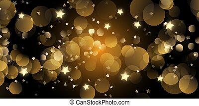christmas banner with bokeh lights and stars 1008