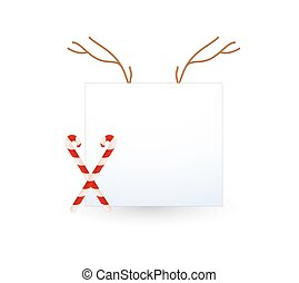 Christmas Banner with Candy Cane