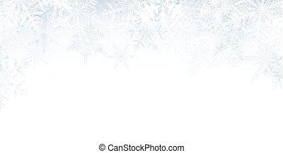 Christmas banner with crystallic snowflakes.