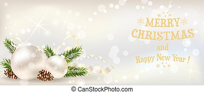 Christmas banner with decoration