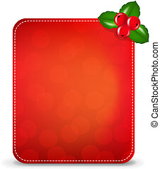 Christmas Banner With Holly Berry