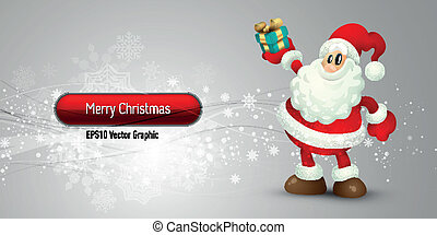 Christmas Banner with Santa Claus | EPS10 Vector Background