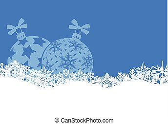 Christmas banner with snowflakes and balls
