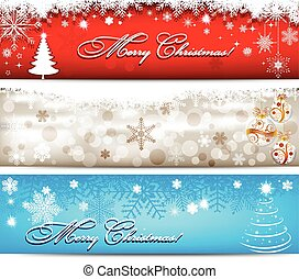 Christmas banner with snowflakes s