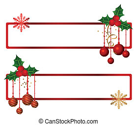 Christmas Banners - Banners with hanging christmas ornaments...