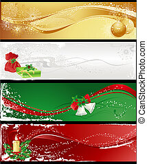 christmas banners - Christmas different banners with...