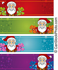 Christmas Banners - Santa Presents