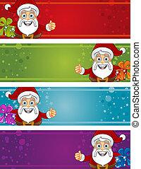 Christmas Banners - Santa Thumbs Up
