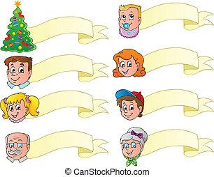 Christmas banners theme set 1