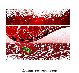 christmas banners - Vector Christmas (New Year) banners for ...