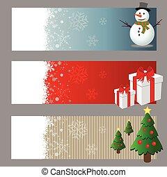 Christmas Banners Vector Set