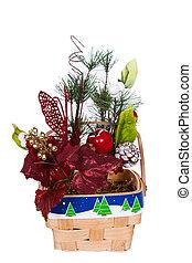 Christmas Basket Arrangement