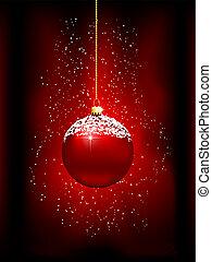 christmas bauble background - Decorative Christmas bauble ...
