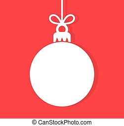 Christmas bauble background.