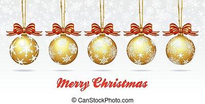 Christmas Bauble Card - Christmas Bauble on a Snowflake...
