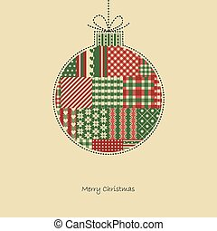 christmas bauble - christmas card vector