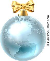Christmas Bauble Globe World Earth