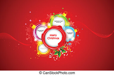 Christmas Bauble - illustration of colorful bauble in...