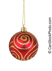 Christmas bauble on white - Christmas bauble isolated on...