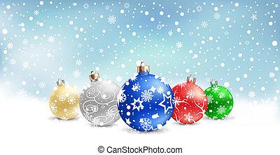christmas bauble snow textarea